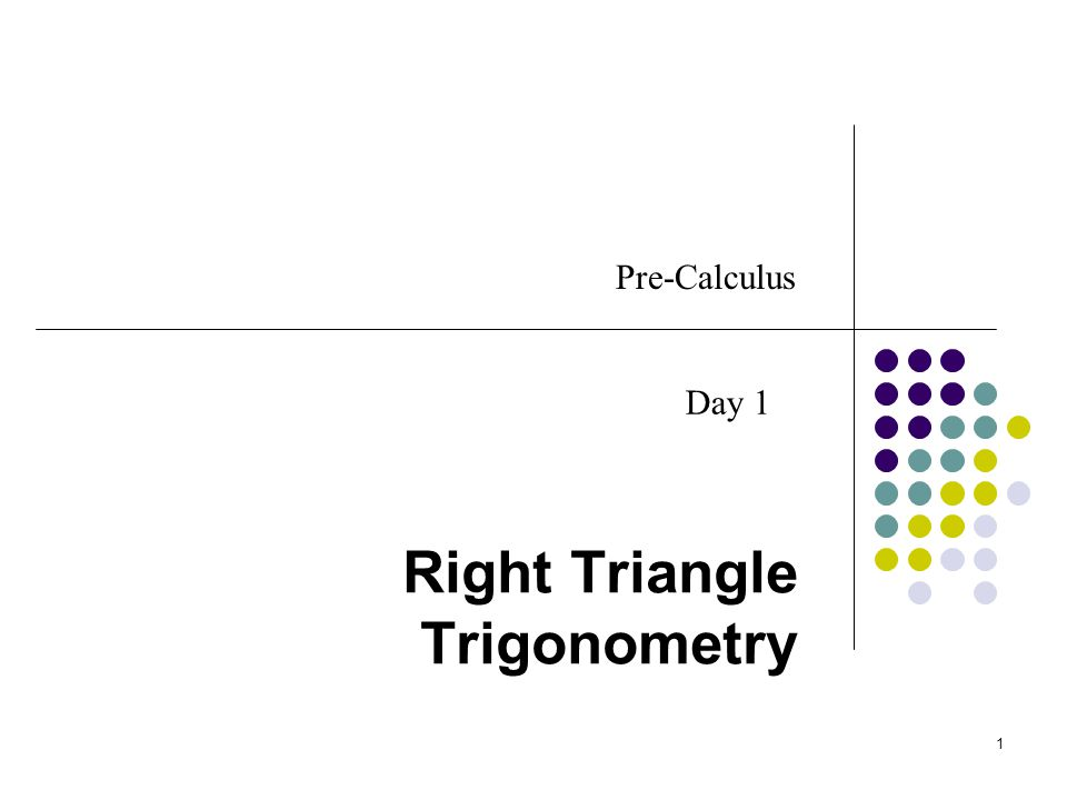 Today's Objective Review right triangle trigonometry from Geometry and expand it to all the trigonometric functions Begin learning some of the Trigonometric identities 2
