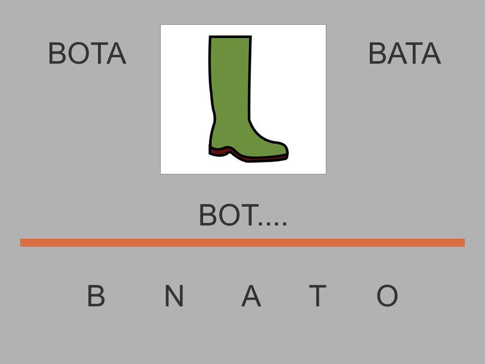 BOTA B N A T O BATA BO........