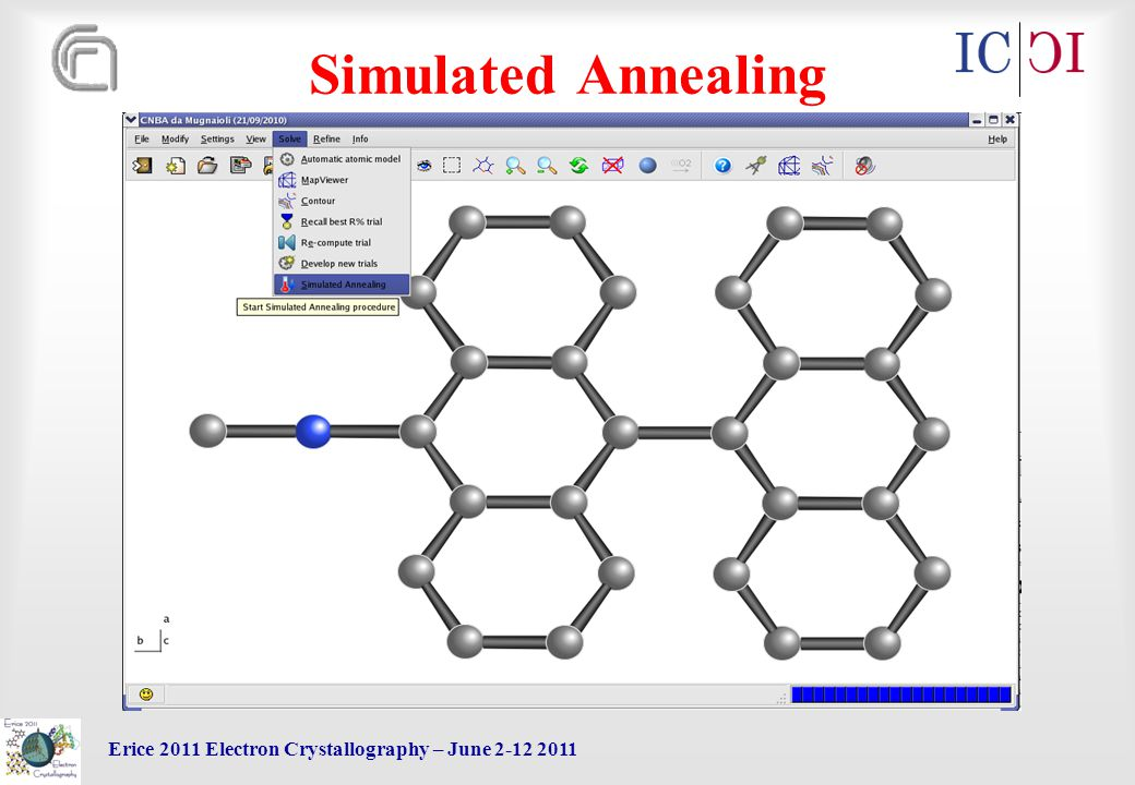 Erice 2011 Electron Crystallography – June 2-12 2011 Simulated Annealing