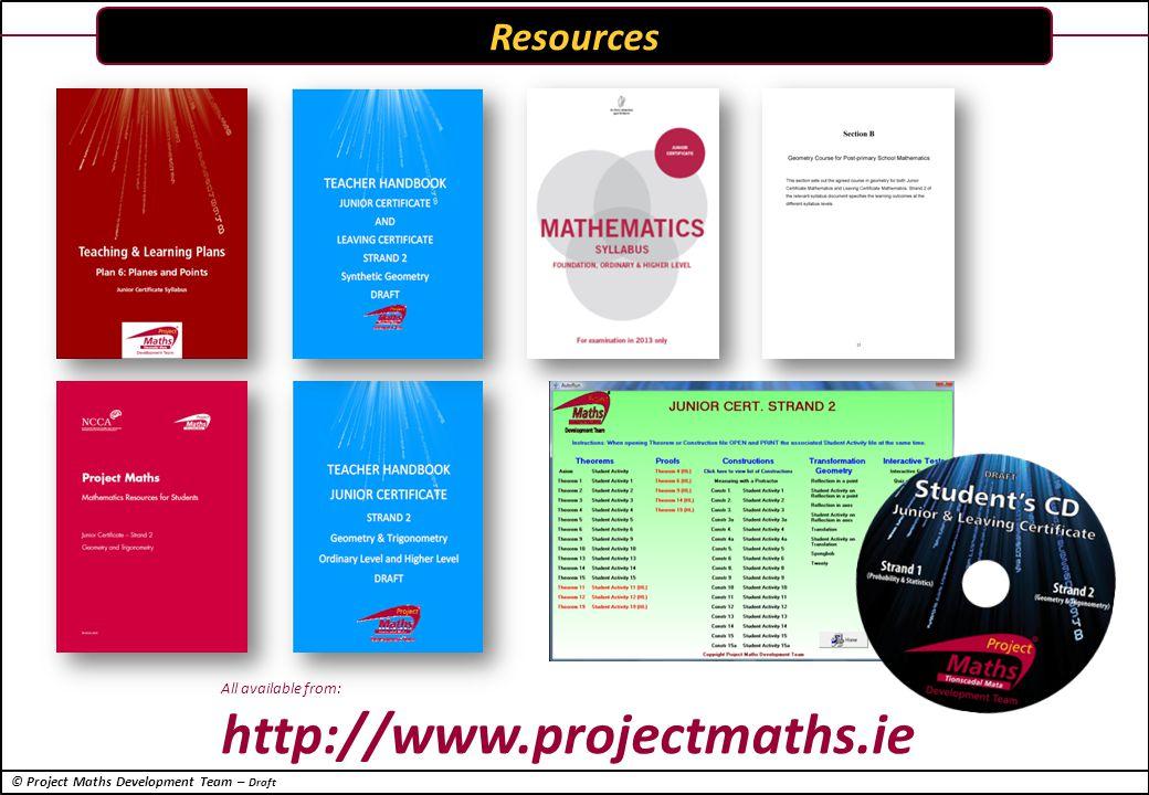 © Project Maths Development Team – Draft Concepts