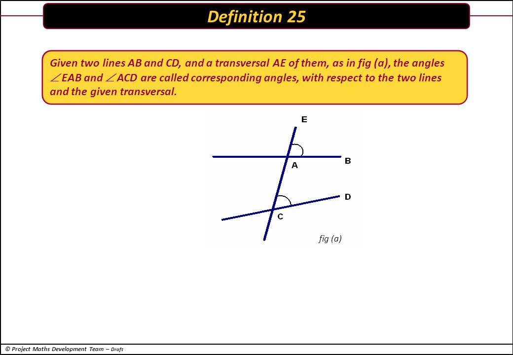 © Project Maths Development Team – Draft Other ShapesPythagorean Triples