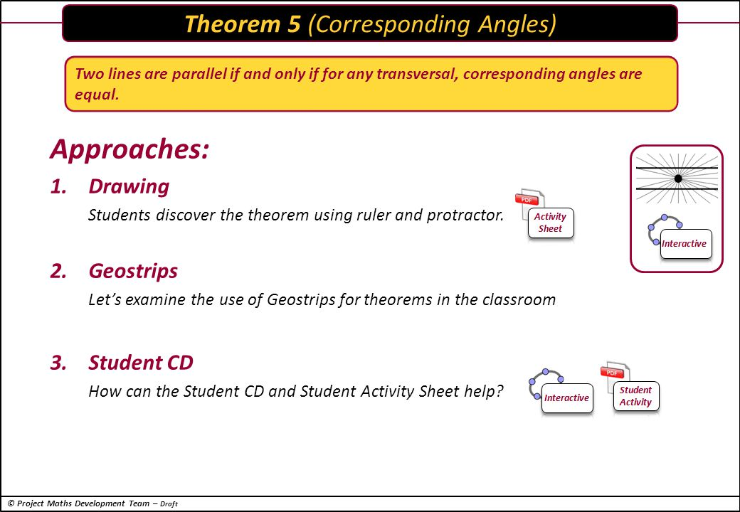 © Project Maths Development Team – Draft Periscope Application of Theorem 5