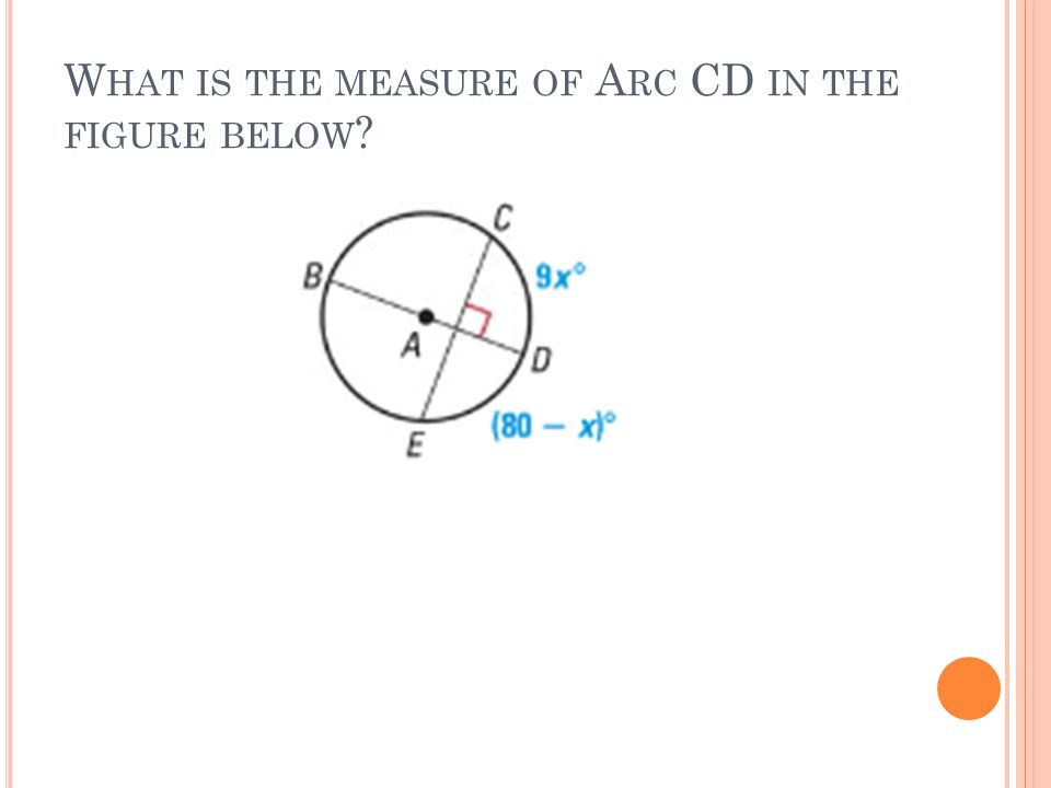 W HAT IS THE MEASURE OF A RC CD IN THE FIGURE BELOW