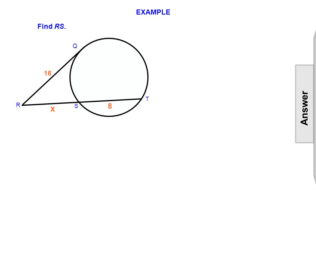 EXAMPLE Find RS.