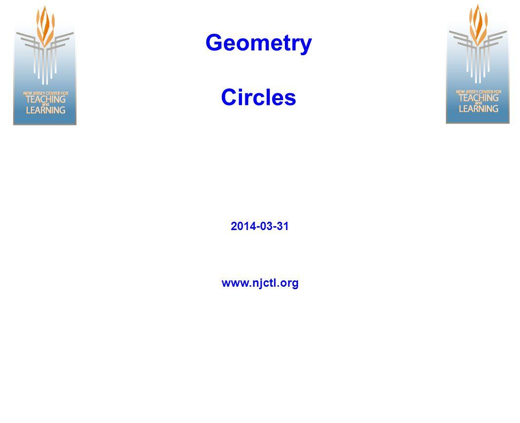Geometry Circles www.njctl.org 2014-03-31
