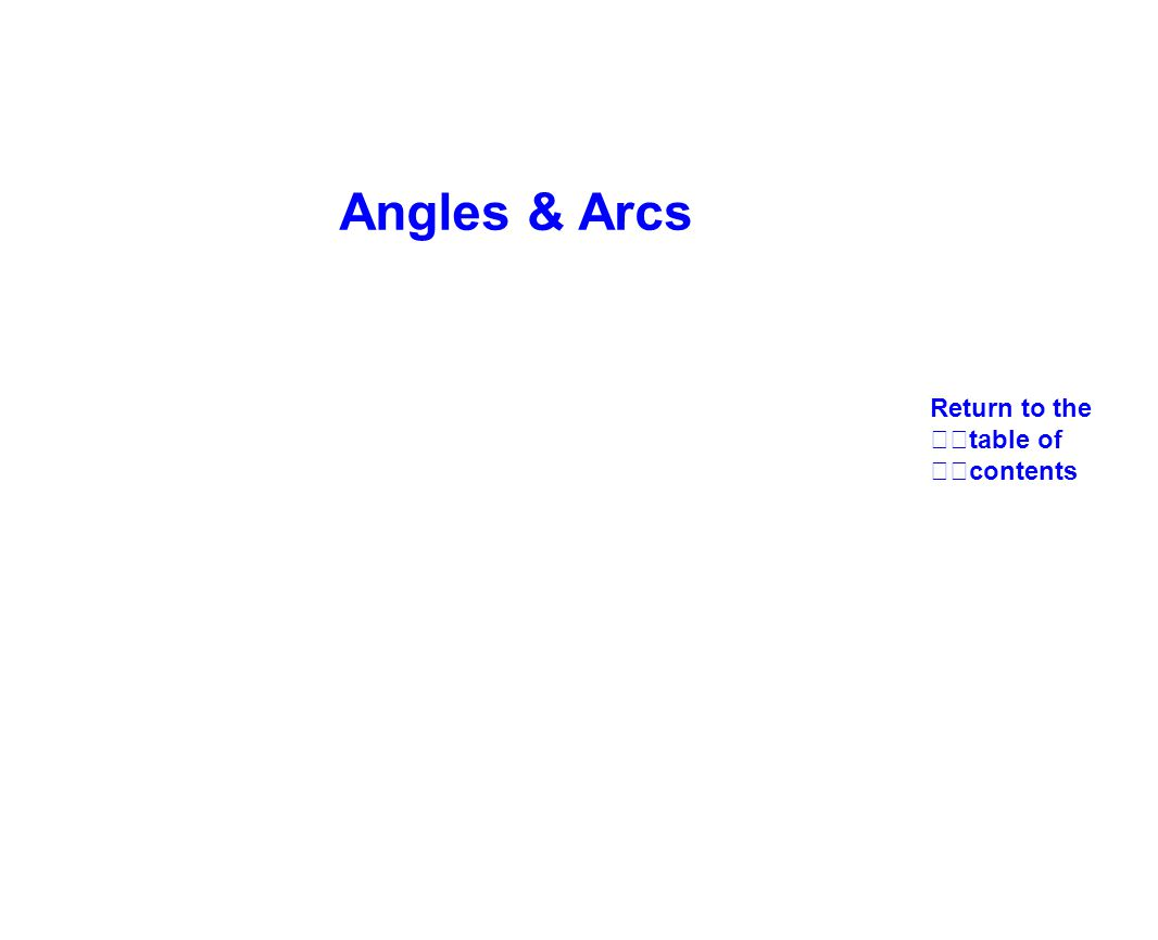 Angles & Arcs Return to the table of contents