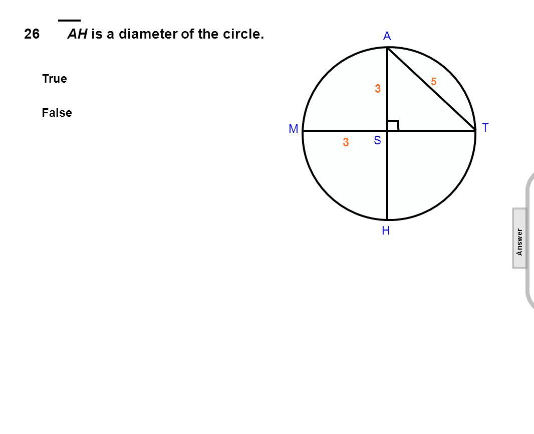 26AH is a diameter of the circle.