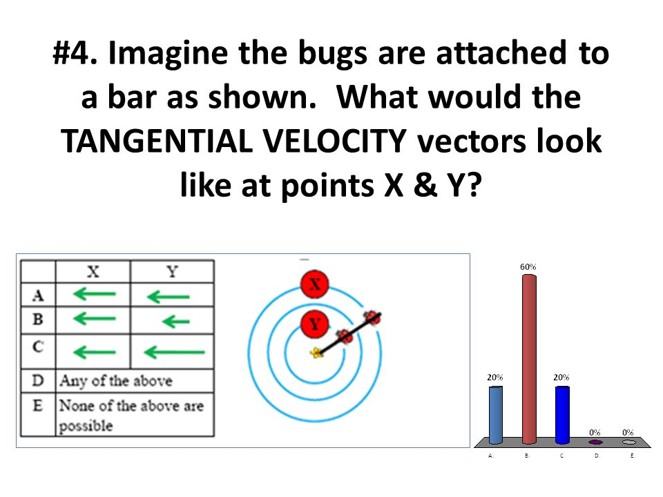 #4. Imagine the bugs are attached to a bar as shown.