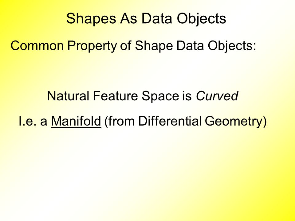 Common Property of Shape Data Objects: Natural Feature Space is Curved I.e.