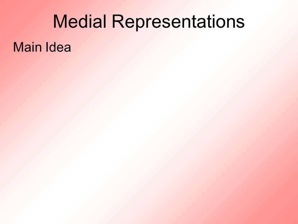 Medial Representations Main Idea