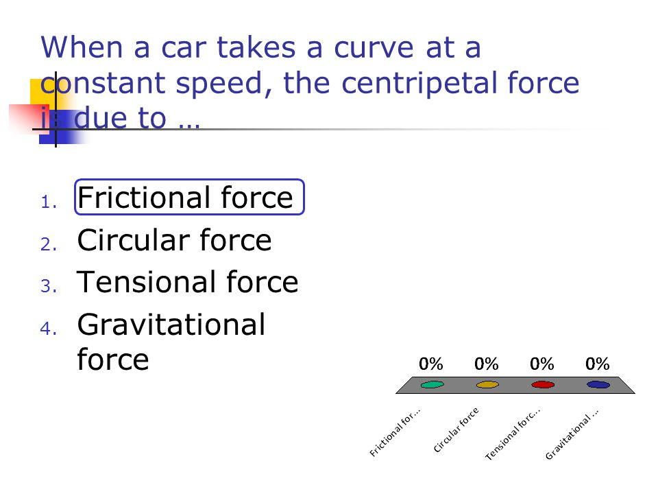 Centripetal Force cont. General equation Note: Centripetal force is not a specific classification of force (like friction or tension) ****Centripetal