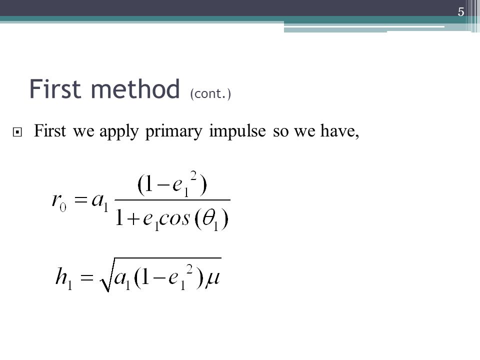 Second method (cont.) 16