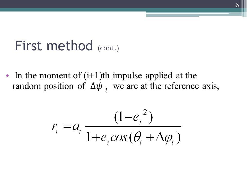 Initial and Tangent orbit parameters 27