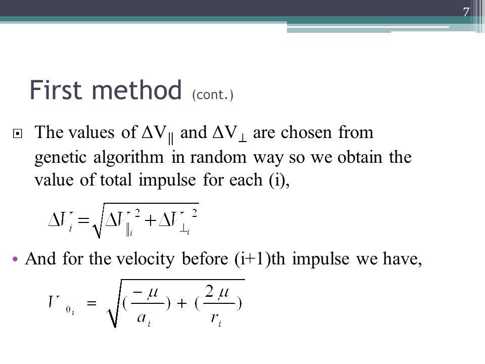 Dual-impulse transfer (Second method) 28