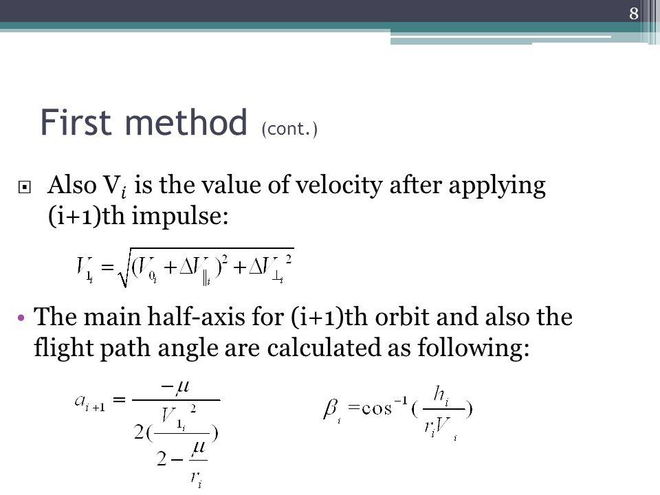 Pareto-optimal solution of dual-impulse transfer (Second method) 29