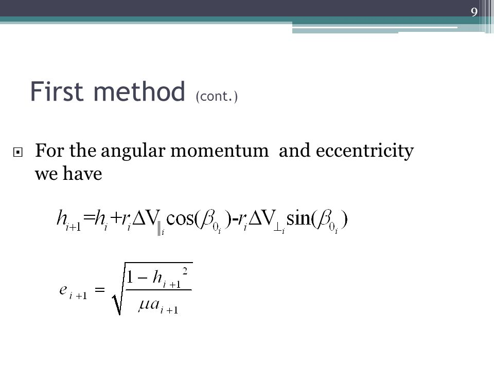 Tri-impulse transfer (Second method) 30