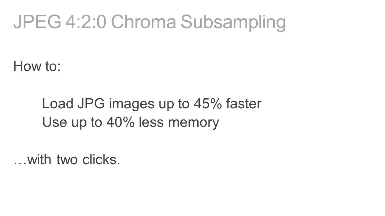 JPEG 4:2:0 Chroma Subsampling