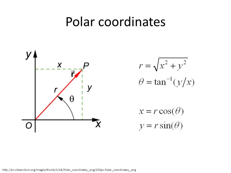 Polar coordinates http://en.citizendium.org/images/thumb/1/18/Polar_coordinates_.png/250px-Polar_coordinates_.png
