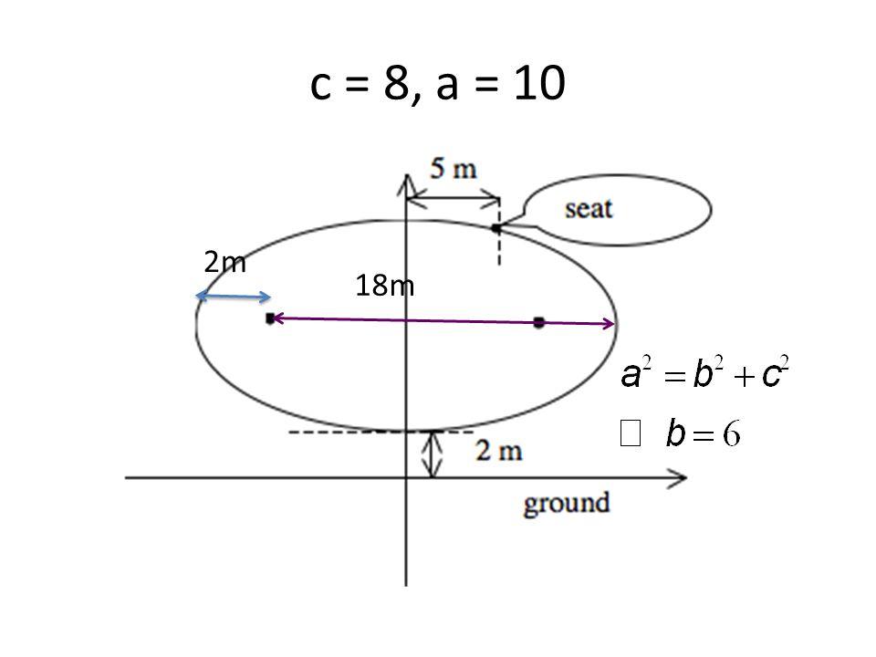 c = 8, a = 10 18m 2m
