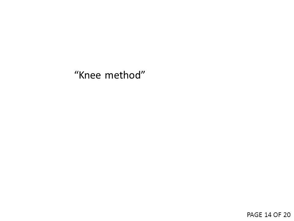 """Knee method"" PAGE 14 OF 20"