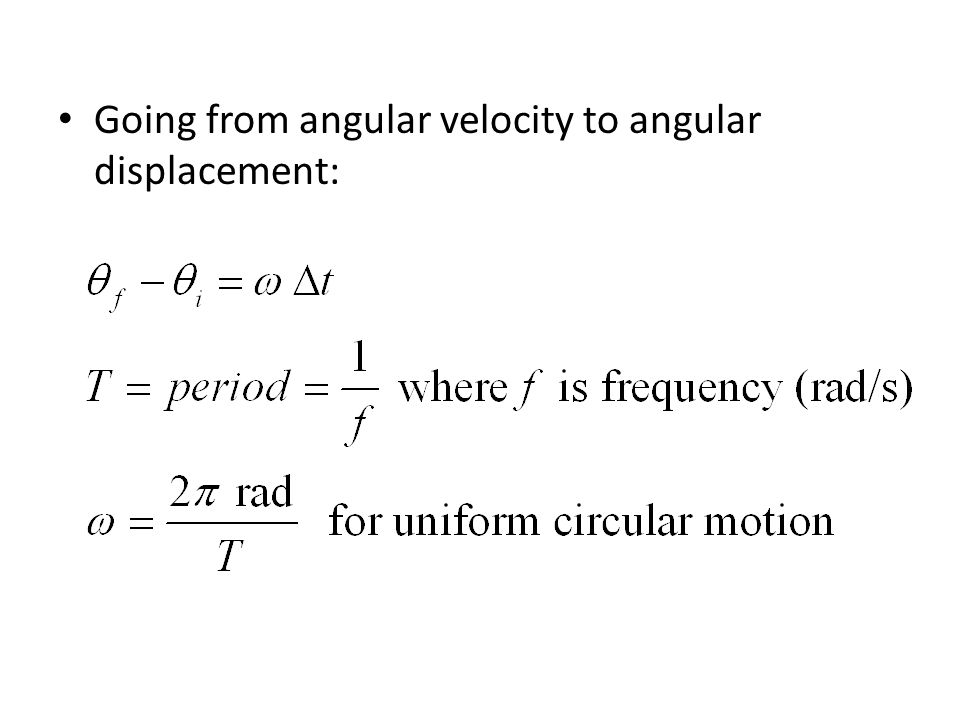 Uniform Circular Motion Uniform magnitude of velocity (speed) ω, is constant But α is not zero because direction of velocity is changing.