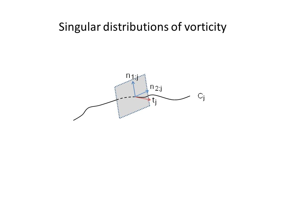 Singular distributions of vorticity