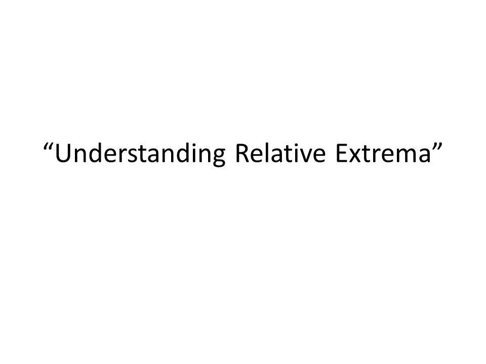 Understanding Relative Extrema
