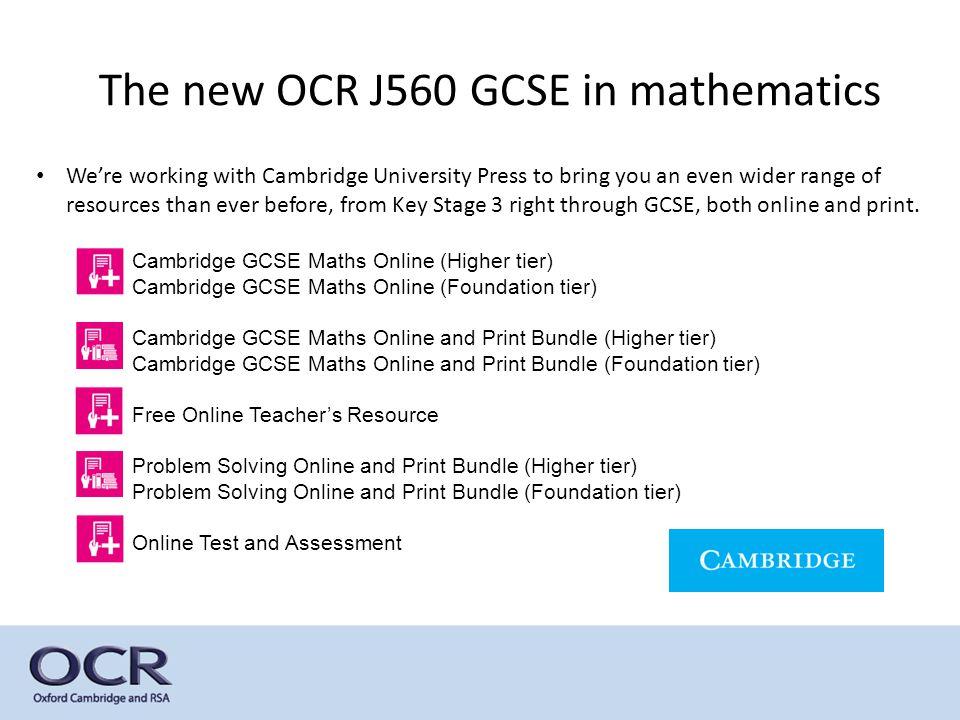 GCSE Reforms in mathematics J560 GCSE in Mathematics. - ppt download