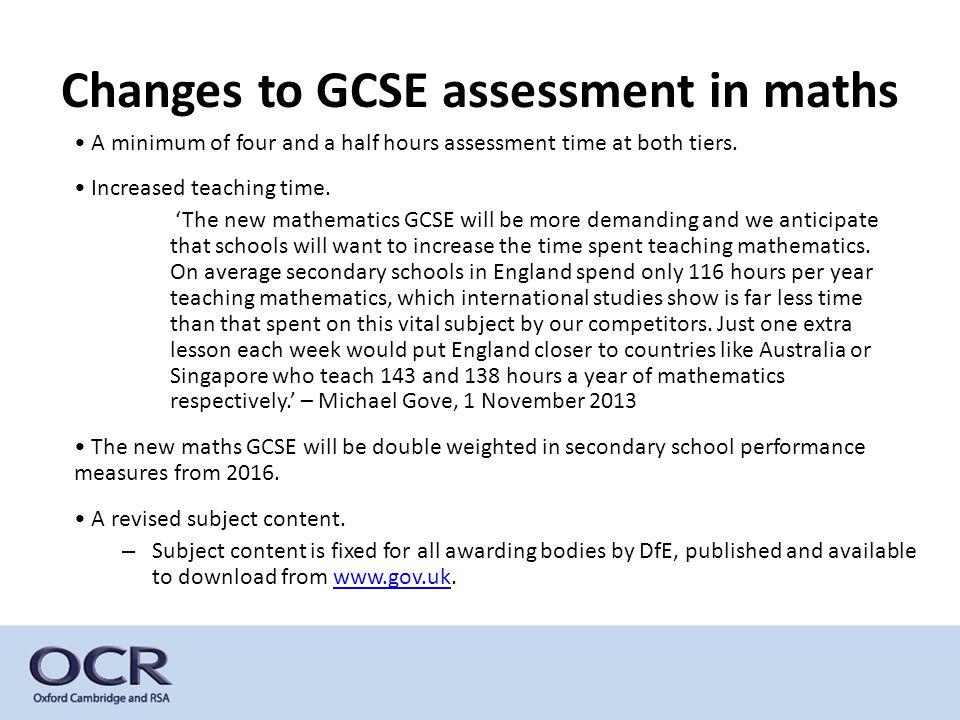 Content coverage in the new GCSE mathematics (December 2013 Ofqual technical consultation Appendix C, figure 1, page 53)