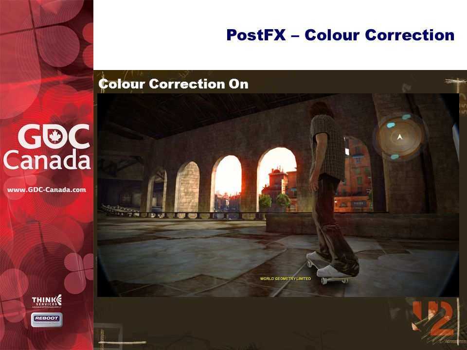 PostFX – Colour Correction Colour Correction On