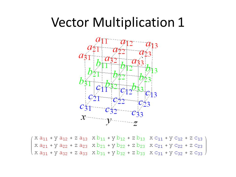Vector Multiplication 1