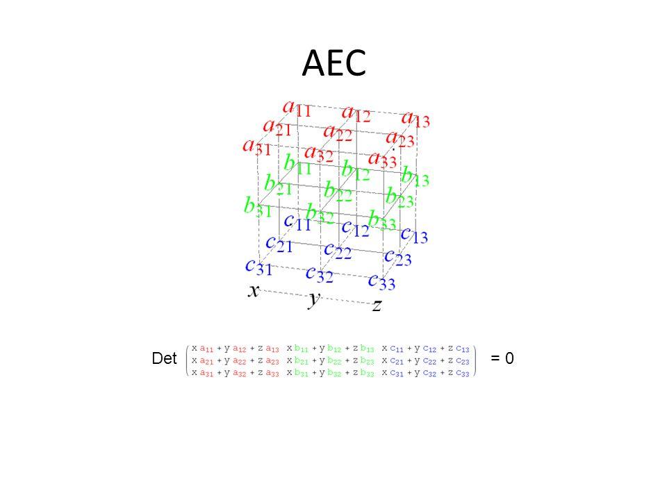 AEC Det= 0