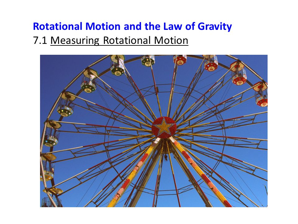 Rotational Motion and the Law of Gravity 7.1 Measuring Rotational Motion