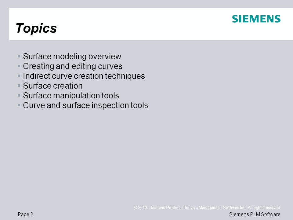 Page 63 © 2010.Siemens Product Lifecycle Management Software Inc.
