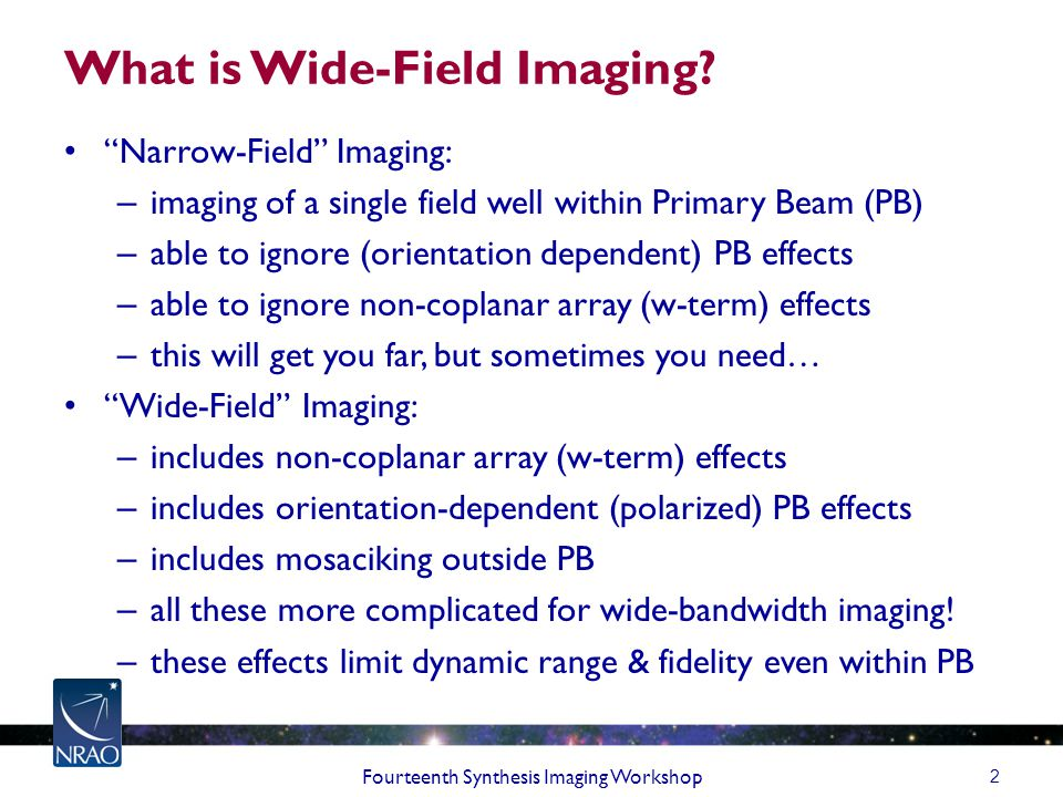 What is Wide-Field Imaging.