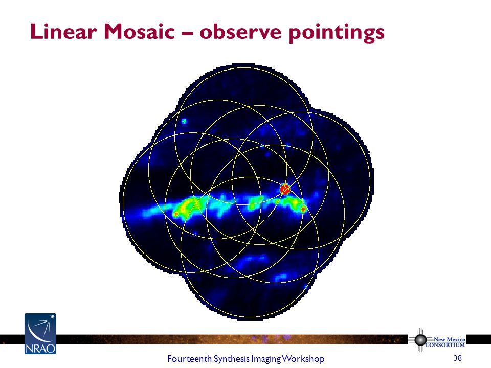 Linear Mosaic – observe pointings Fourteenth Synthesis Imaging Workshop 38