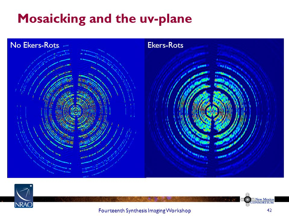 Mosaicking and the uv-plane Fourteenth Synthesis Imaging Workshop 42 No Ekers-Rots Ekers-Rots