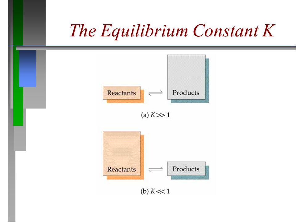 The Equilibrium Constant K