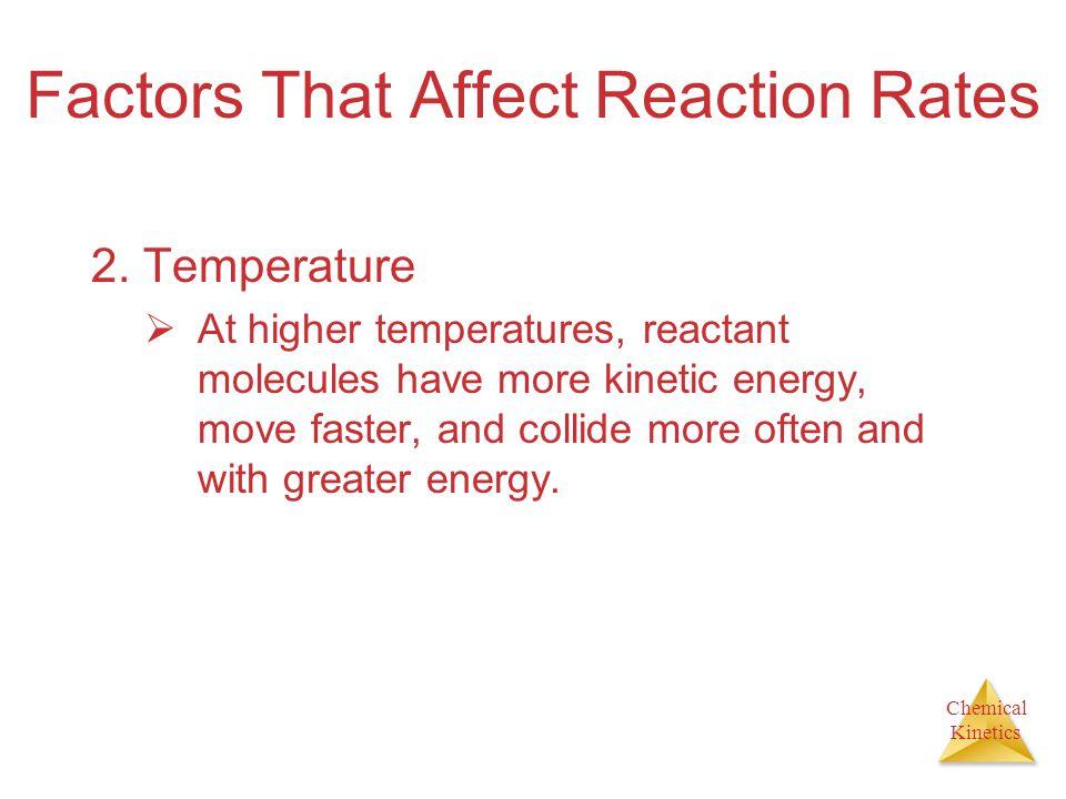 Chemical Kinetics Factors That Affect Reaction Rates 3.