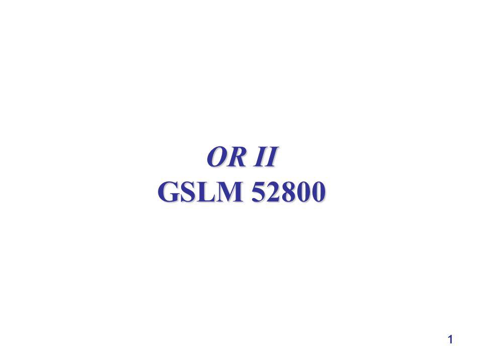 1 OR II GSLM 52800