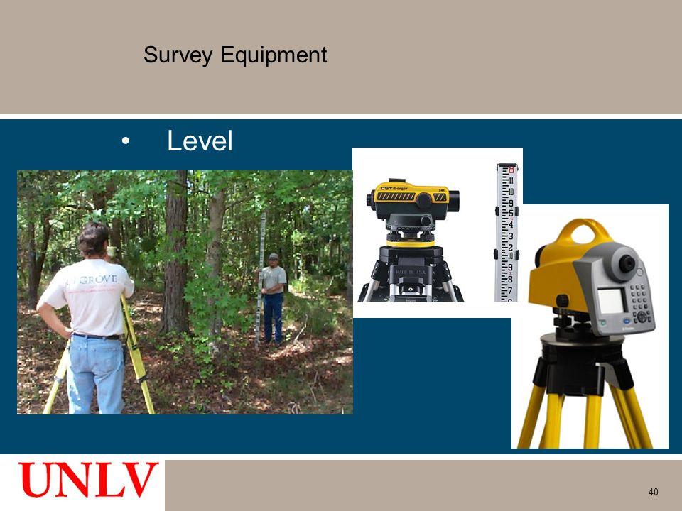 Survey Equipment Level 40