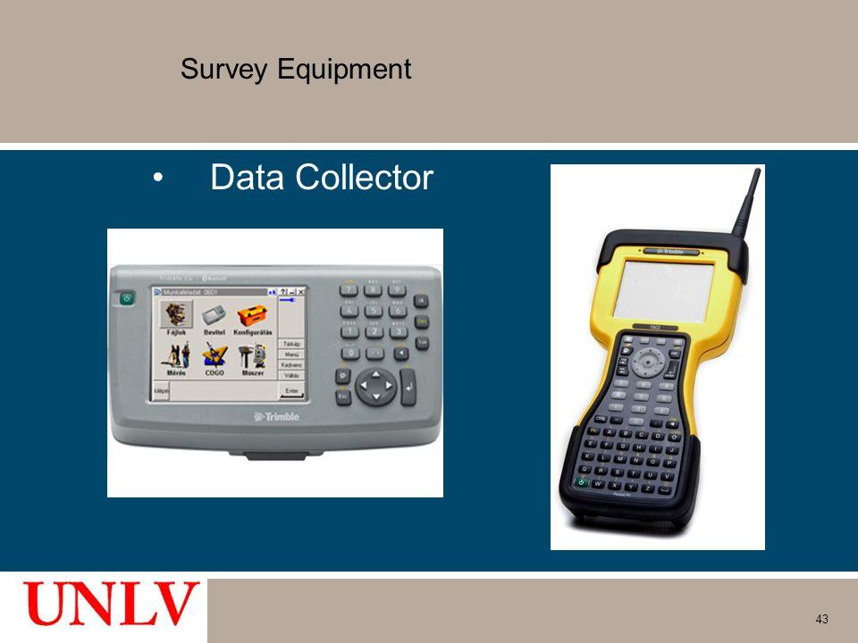 Survey Equipment Data Collector 43