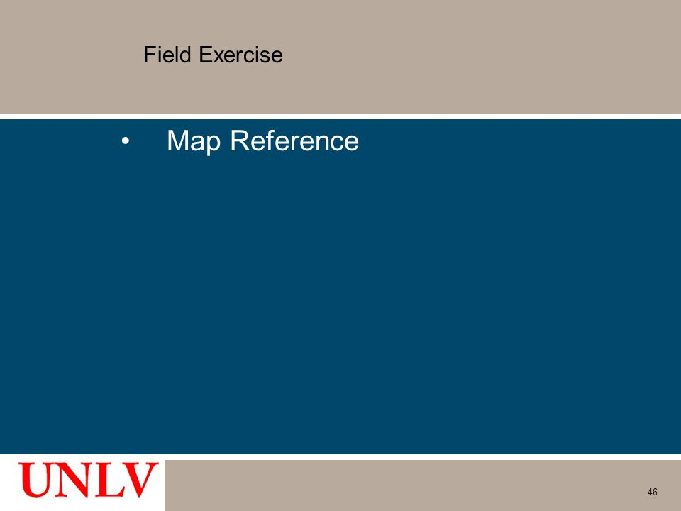Field Exercise Map Reference 46