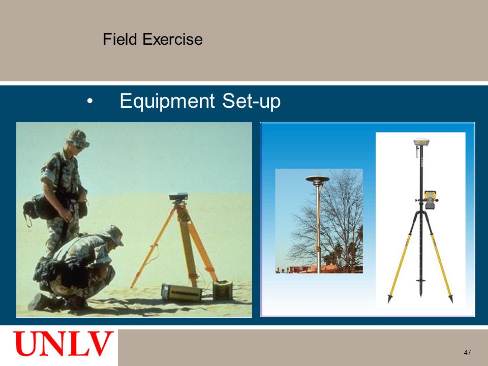 Field Exercise Equipment Set-up 47