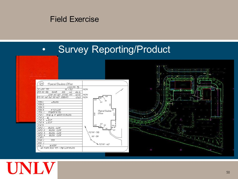Field Exercise Survey Reporting/Product 50