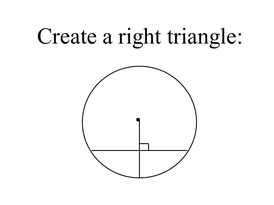 Create a right triangle:.