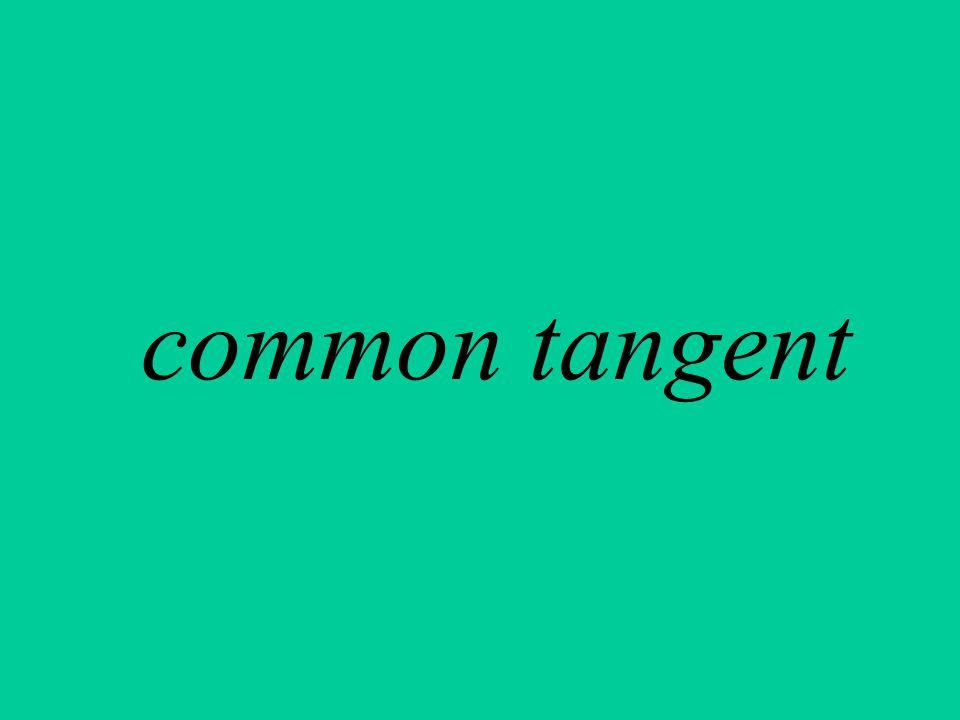common tangent