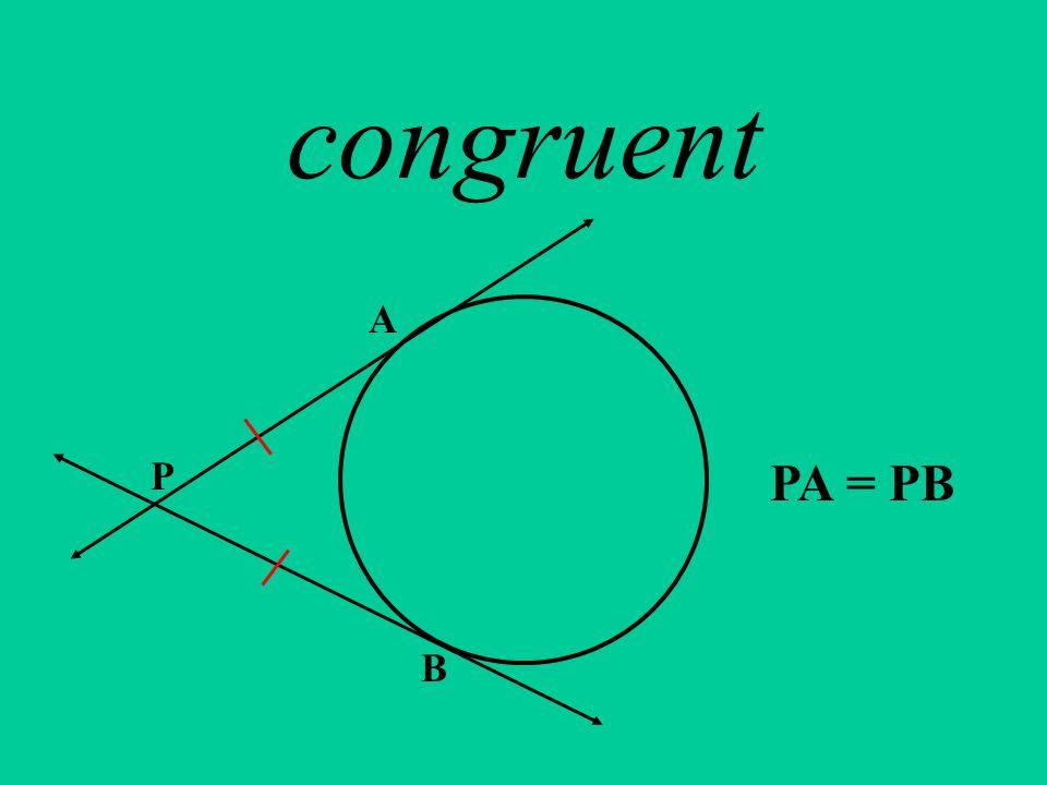 congruent P A B PA = PB