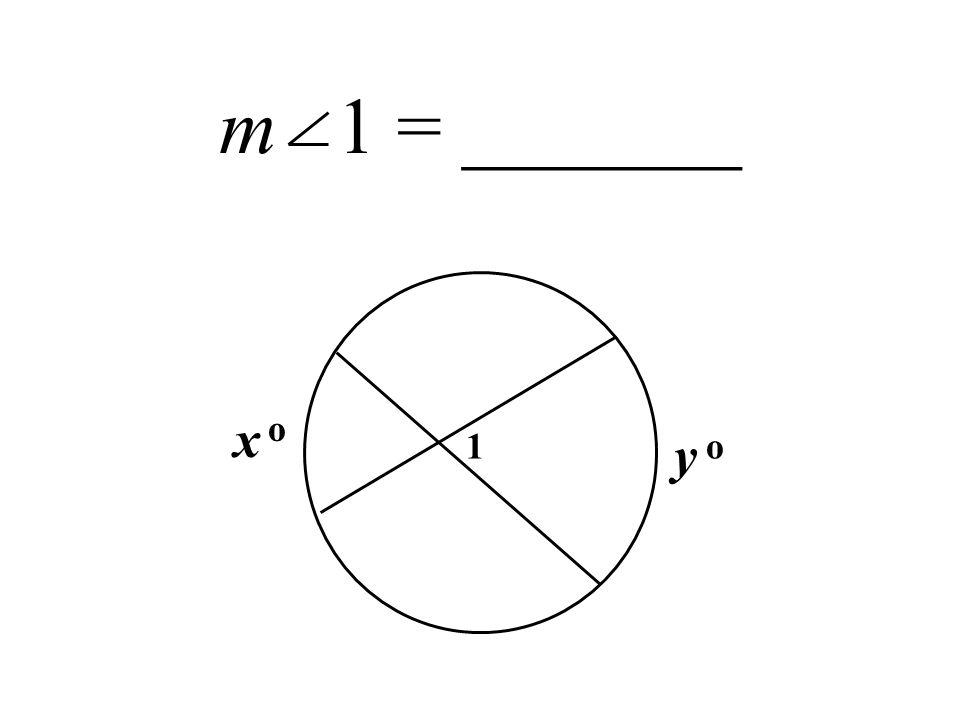 m 1 = _______ 1 x y o o