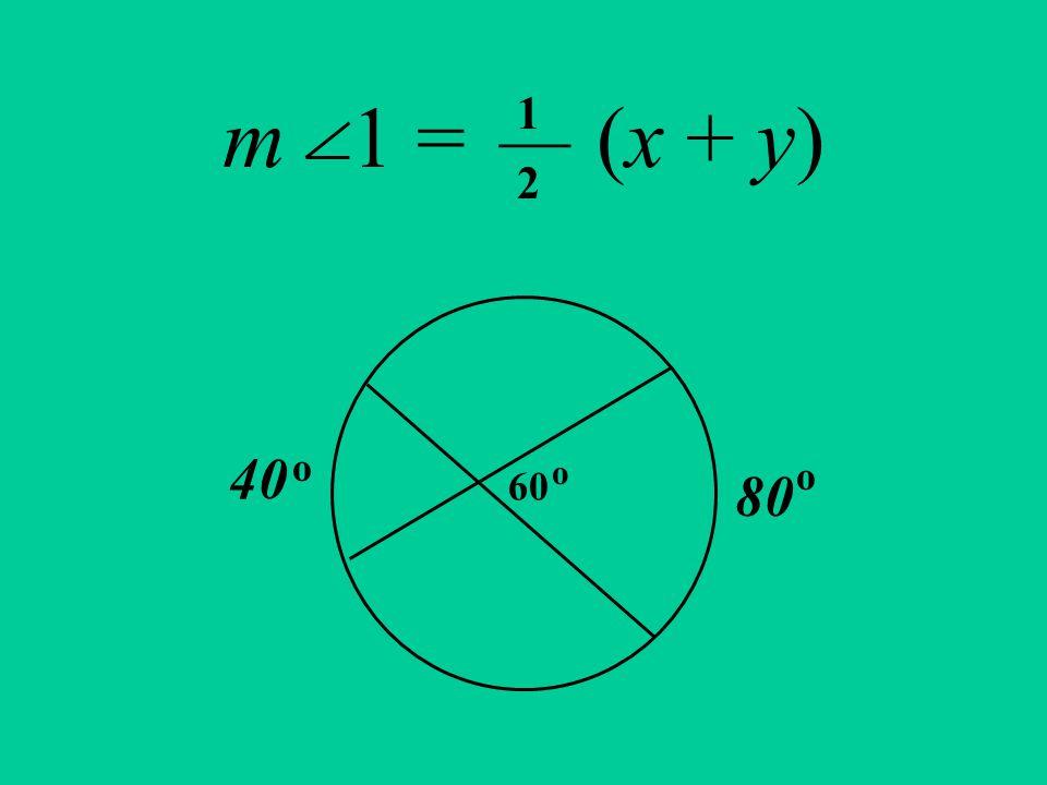 m 1 = (x + y) 60 40 80 o o 1 ___ 2 o